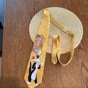 Looney Tunes Cartoon Character Fun Dress Silk Tie